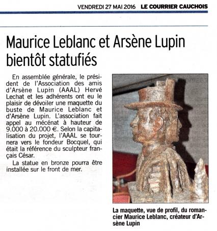 Etretat,Journées Lupiniennes,buste