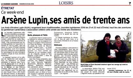 Etretat,Journées Lupiniennes