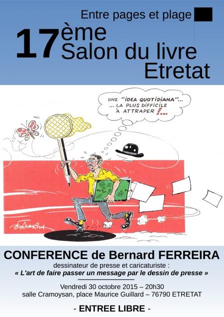 Salon du Livre,Etretat,Bernard Ferreira